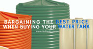 Bargaining the Best Price when Buying your Water Tank